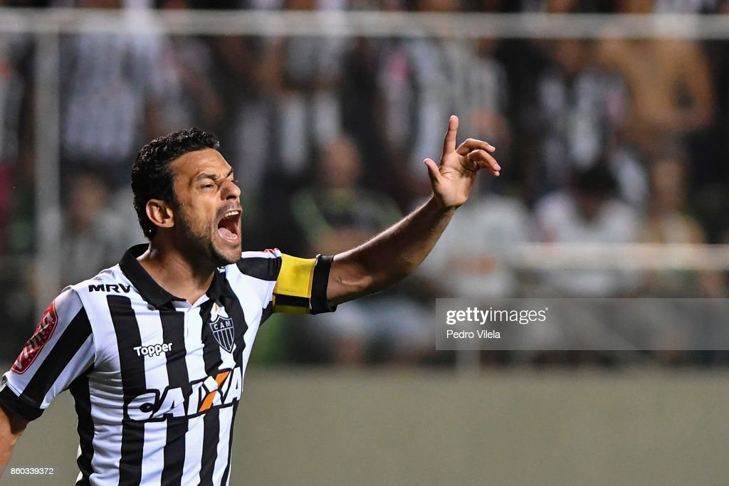Fred #9 of Atletico MG a match between Atletico MG and Sao Paulo as part of Brasileirao Series A 2017 at Independencia stadium on October 11, 2017 in Belo Horizonte, Brazil.