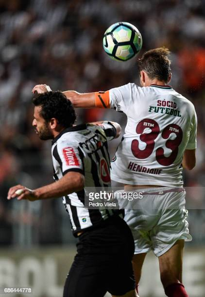 Fred of Atletico MG and Henrique of Fluminense battle for the ball during a match between Atletico MG and Fluminense as part of Brasileirao Series A...