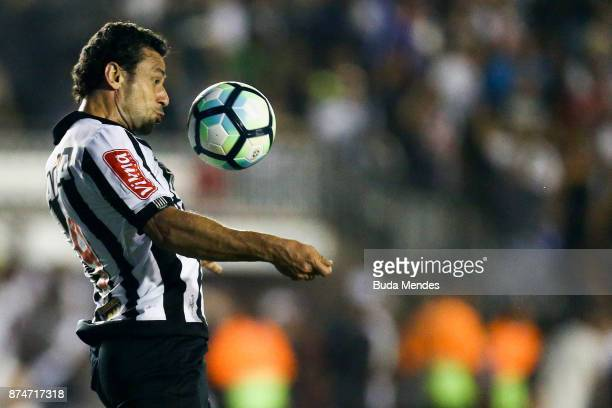 Fred of Atletico MG controls the ball during a match between Vasco da Gama and Atletico MG as part of Brasileirao Series A 2017 at Sao Januario...