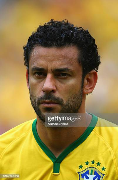 Fred of Brazil looks on during the 2014 FIFA World Cup Brazil Group A match between Brazil and Mexico at Castelao on June 17 2014 in Fortaleza Brazil
