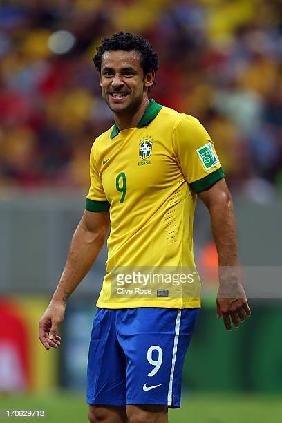 Fred of Brazil looks on during the FIFA Confederations Cup Brazil 2013 Group A match between Brazil and Japan at National Stadium on June 15 2013 in...