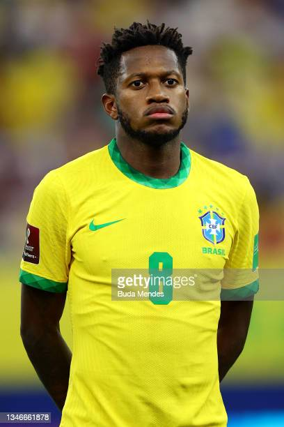 Fred of Brazil looks on prior to a match between Brazil and Uruguay as part of South American Qualifiers for Qatar 2022 at Arena Amazonia on October...