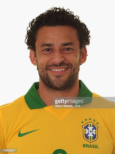 Fred of Brazil poses for a portrait at the Palace Hotel on June 12 2013 in Brasilia Brazil