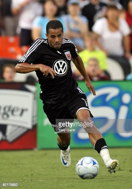Fred of DC United moves into the attackduring an MLS match at RFK Stadium against the Kansas City Wizards on August 2 2008 in Washington DC The match...