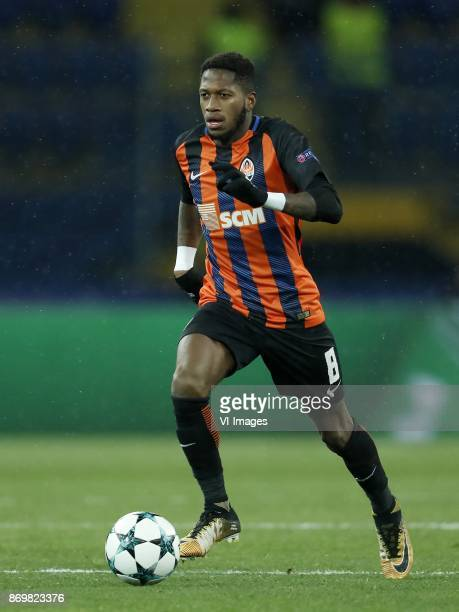 Fred of FC Shakhtar Donetsk during the UEFA Champions League group F match between Shakhtar Donetsk and Feyenoord Rotterdam at Metalist Stadium on...