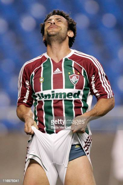 Fred of Fluminense during a match as part of Brazilian Championship Serie A at Engenhao Stadium on June 18 2011 in Rio de Janeiro Brazil