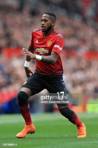 Fred of Man Utd in action during the Premier League match between Manchester United and Wolverhampton Wanderers at Old Trafford on September 22 2018...