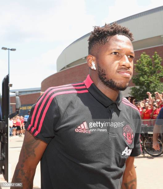 Fred of Manchester United arrives ahead of the preseason friendly match between Manchester United and Liverpool at Michigan Stadium on July 28 2018...