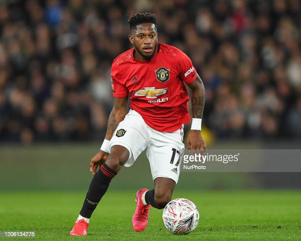 Fred of Manchester United during the FA Cup match between Derby County and Manchester United at the Pride Park Derby on Thursday 5th March 2020