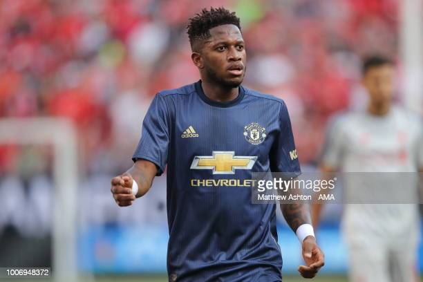 Fred of Manchester United during the International Champions Cup 2018 match between Manchester Untied and Liverpool at Michigan Stadium on July 28...