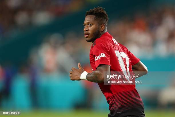 Fred of Manchester United during the International Champions Cup 2018 fixture between Manchester United v Real Madrid at Hard Rock Stadium on July 31...
