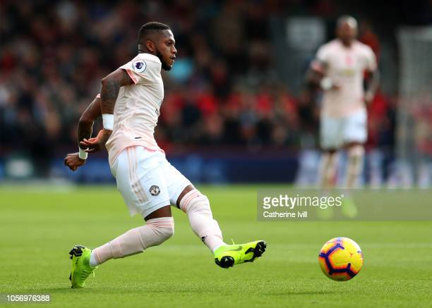 Fred of Manchester United during the Premier League match between AFC Bournemouth and Manchester United at Vitality Stadium on November 3 2018 in...