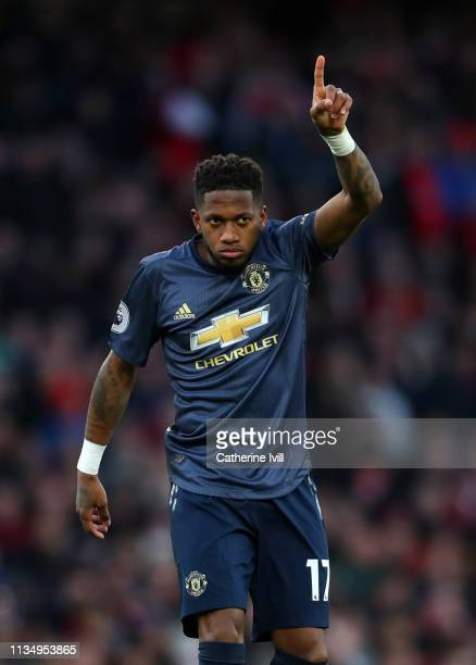 Fred of Manchester United during the Premier League match between Arsenal FC and Manchester United at Emirates Stadium on March 10 2019 in London...