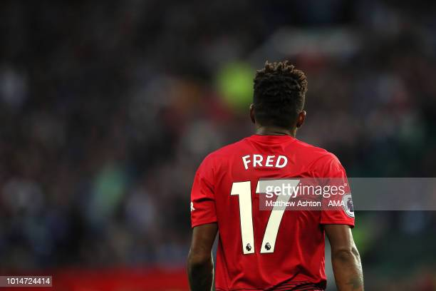 Fred of Manchester United during the Premier League match between Manchester United and Leicester City at Old Trafford on August 10 2018 in...