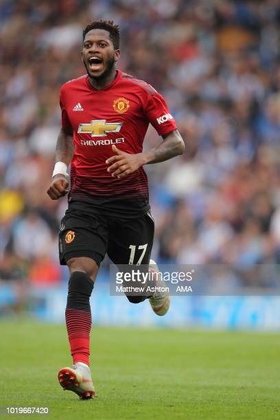 Fred of Manchester United during the Premier League match between Brighton Hove Albion and Manchester United at American Express Community Stadium on...