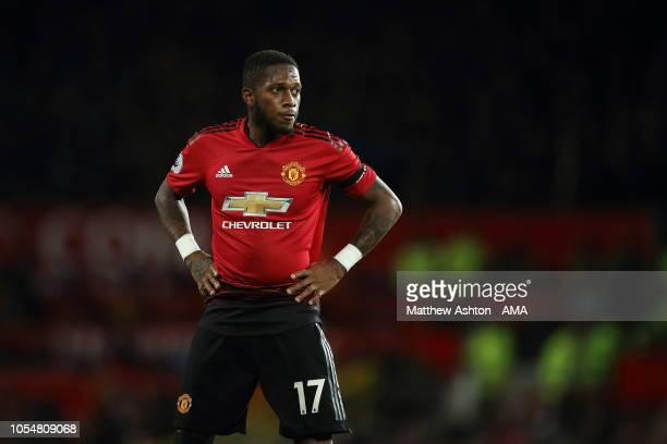 Fred of Manchester United during the Premier League match between Manchester United and Everton FC at Old Trafford on October 28 2018 in Manchester...