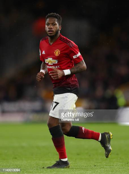 Fred of Manchester United during the Premier League match between Wolverhampton Wanderers and Manchester United at Molineux on April 02 2019 in...