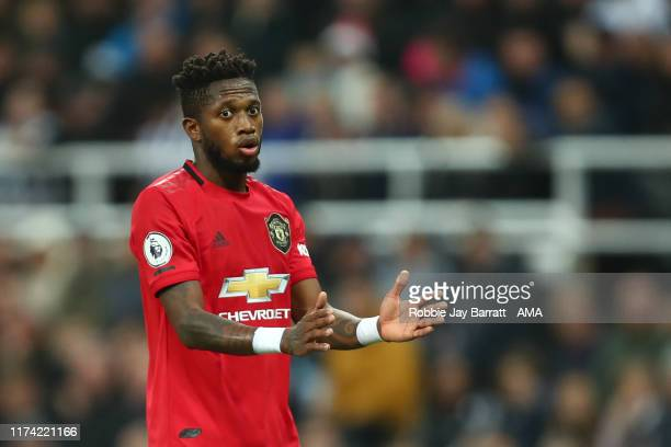 Fred of Manchester United during the Premier League match between Newcastle United and Manchester United at St James Park on October 6 2019 in...