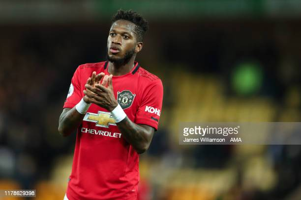 Fred of Manchester United during the Premier League match between Norwich City and Manchester United at Carrow Road on October 27 2019 in Norwich...