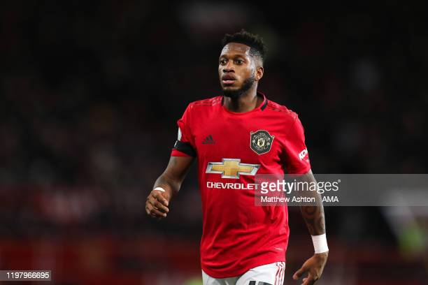 Fred of Manchester United during the Premier League match between Manchester United and Wolverhampton Wanderers at Old Trafford on February 1 2020 in...