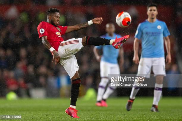 Fred of Manchester United during the Premier League match between Manchester United and Manchester City at Old Trafford on March 8 2020 in Manchester...