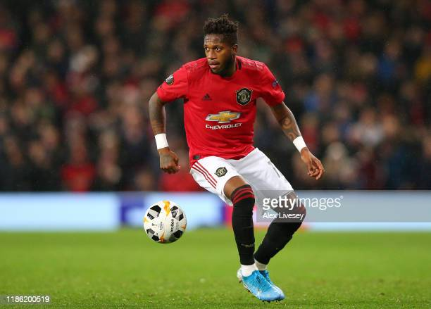 Fred of Manchester United during the UEFA Europa League group L match between Manchester United and Partizan at Old Trafford on November 07 2019 in...
