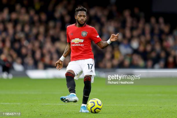 Fred of Manchester United in action during the Premier League match between Watford FC and Manchester United at Vicarage Road on December 22, 2019 in...