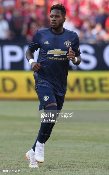 Fred of Manchester United in action during the preseason friendly match between Manchester United and Liverpool at Michigan Stadium on July 28 2018...