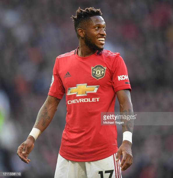 Fred of Manchester United looks on during the Premier League match between Manchester United and Manchester City at Old Trafford on March 08 2020 in...