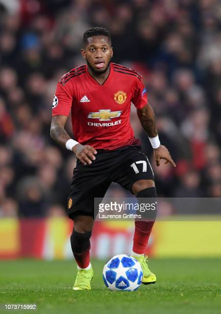 Fred of Manchester United runs with the ball during the UEFA Champions League Group H match between Manchester United and BSC Young Boys at Old...