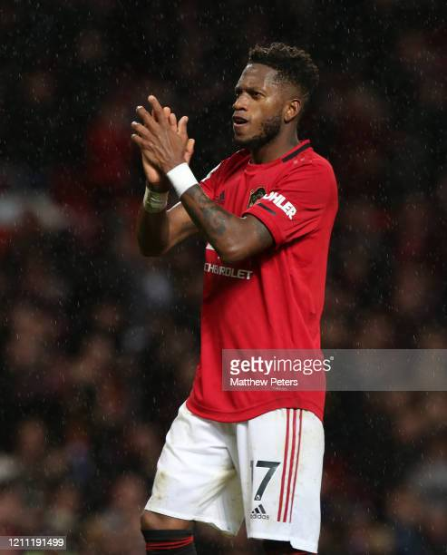 Fred of Manchester United walks off after the Premier League match between Manchester United and Manchester City at Old Trafford on March 08 2020 in...