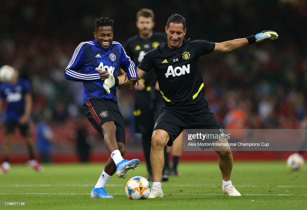 Manchester United International Champions Cup 2020.Fred Of Manchester United Warms Up Prior To The 2019