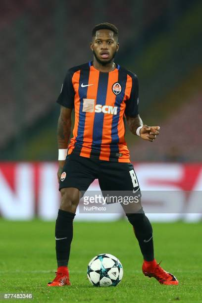 Fred of Shakhtar Donetsk at San Paolo Stadium in Naples Italy on November 21 during the UEFA Champions League Group F football match Napoli vs...