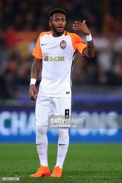 Fred of Shakhtar Donetsk gestures during the UEFA Champions League Round of 16 Second Leg match between AS Roma and Shakhtar Donetsk at Stadio...