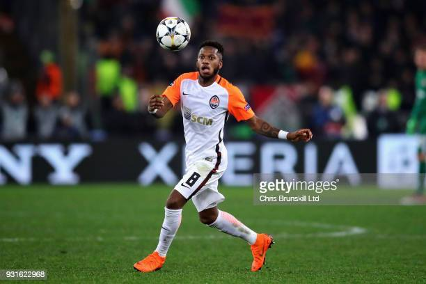Fred of Shakhtar Donetsk in action during the UEFA Champions League Round of 16 Second Leg match between AS Roma and Shakhtar Donetsk at Stadio...