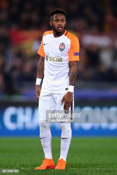 Fred of Shakhtar Donetsk looks on during the UEFA Champions League Round of 16 Second Leg match between AS Roma and Shakhtar Donetsk at Stadio...