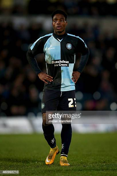 Fred Onyedinma of Wycombe during the Sky Bet League Two match between Wycombe Wanderers and Hartlepool United at Adams Park on January 3 2015 in High...