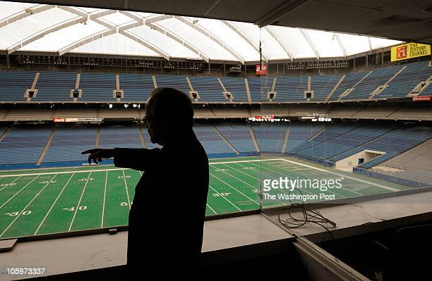 Fred P Leeb Emergency Financial Manager for the City of Pontiac gives a tour of the vacant Pontiac Silverdome in Pontiac Michigan on Tuesday December...