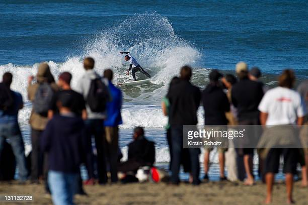 Fred Patacchia Jnr of Hawaii surfs during round one of the Rip Curl Pro Search on November 1, 2011 in San Francisco, California.