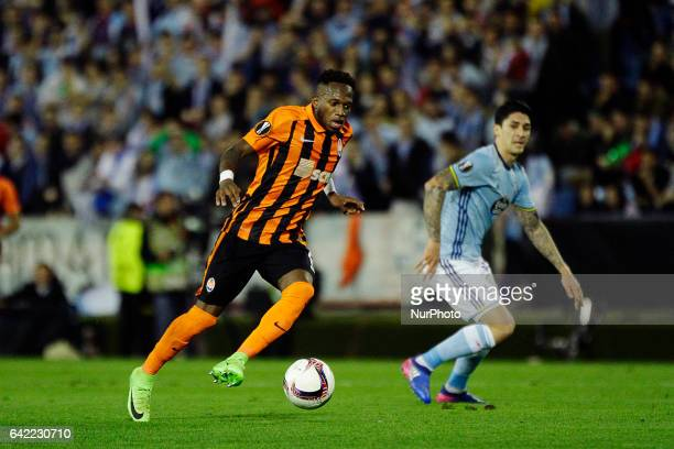 Fred Rodrigues midfielder of Shakhtar Donetsk in action during the UEFA Europa League Round of 16 first leg match between Celta de Vigo and Shakhtar...