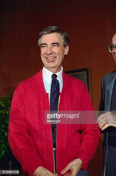Fred Rogers of Mister Rogers' Neighborhood donates his famous red cardigan sweater to the National Museum of American History Smithsonian Institution