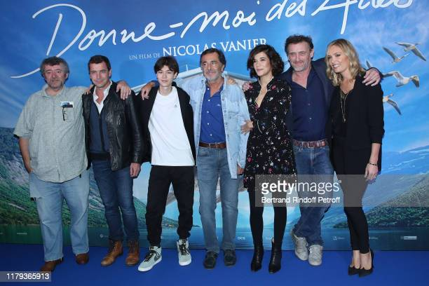 Fred Saurel Gregori Baquet Louis Vazquez Nicolas Vanier Melanie Doutey JeanPaul Rouve and Lilou Fogli attend the DonneMoi Des Ailes Premiere At...