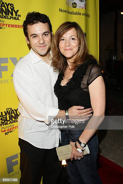 Fred Savage and Jennifer Lynn Stone arrive to the It's Always Sunny in Philadelphia Season 4 Premiere and Season 3 DVD Launch Party hosted by FX and...