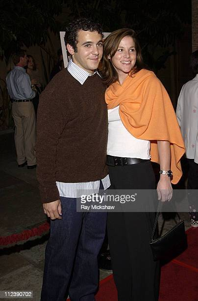Fred Savage and Jennifer Stone during The Rules of Attraction Premiere Arrivals at The Egyptian Theatre in Hollywood California United States