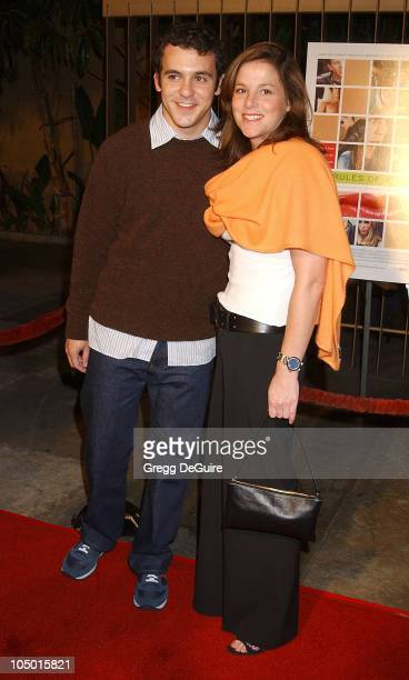 Fred Savage Jennifer Stone during The Rules of Attraction Premiere Arrivals at The Egyptian Theatre in Hollywood California United States