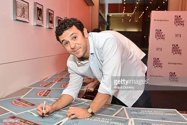 Fred Savage performs at the Film Independent Live Read: Ferris Bueller's Day Off at Bing Theatre At LACMA on October 15, 2015 in Los Angeles,...