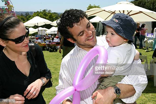 Fred Savage wife Jennifer Lynn Stone and son Oliver Savage Photo by Michael Bezjian/WireImage for Silver Spoon
