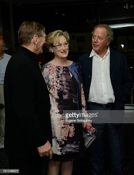 Fred Schepisi Meryl Streep and Donald Gummer attend 'The Eye Of The Storm' New York Premiereat MOMA on September 4 2012 in New York City