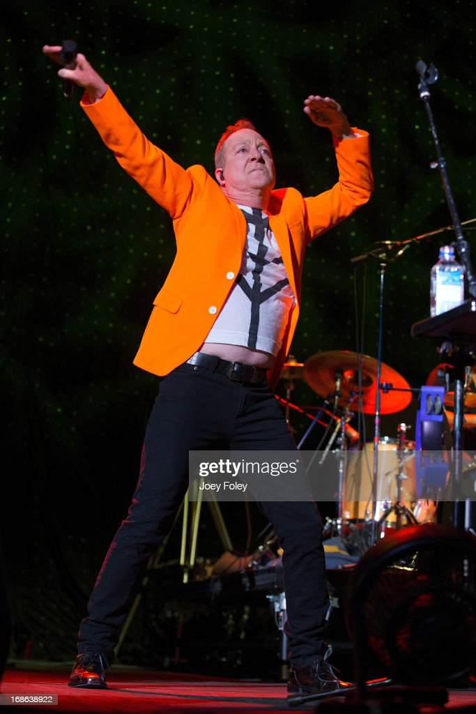 Fred Schneider of The B-52's performs onstage during the Julep Ball 2013 during the 139th Kentucky Derby at KFC YUM! Center on May 3, 2013 in Louisville, Kentucky.
