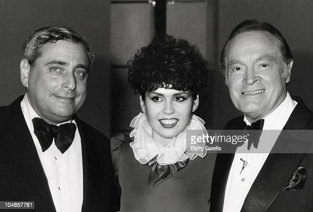 Fred Silverman Marie Osmond and Bob Hope during Bob Hope's 30th Anniversary Party at NBC's Burbank Studio in Burbank California United States